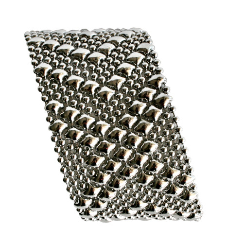 Liquid Metal Mesh Cuff Bracelet By Sergio Gutierrez B44