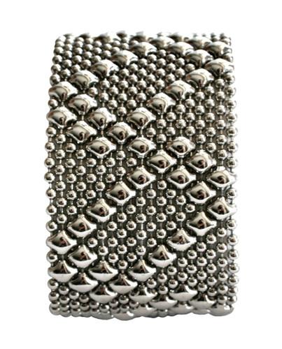 Liquid Metal Silver Mesh Cuff Bracelet by Sergio Gutierrez B46-1