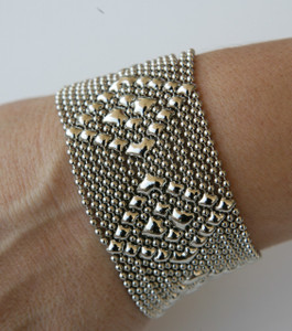 Liquid Metal Silver Tiny Ball Chain Bracelet by Sergio Gutierrez TB32