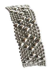 Liquid Metal Small Diamonds Mesh Bracelet by Sergio Gutierrez B4