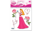 Jolees 376723 Disney Dimensional Princess Stickers-Sleeping Beauty With Rose