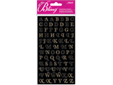 Jolees 426202 Bling Stickers-Gold Mini Foil Alphabet