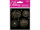 Jolees 426234 Bling Stickers-Fireworks Gold