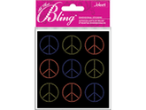 Jolees 426227 Bling Stickers-Peace Seals