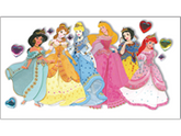 Jolees 364787 Disney Princess Le Grande Jewel Dimensional Sticker-Multiple Princesses