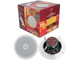 """8"""" Mid-Bass 2-Way In-Ceiling Speaker System - 2 Pieces - White - 300W Peak Power"""