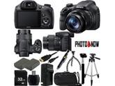 SONY Cyber-shot DSC-HX300/B Black 20.4 MP 50X Optical Zoom Digital Camera HDTV Output With Advanced Bundle