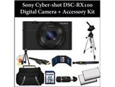 Sony Cyber-Shot DSC-RX100 (RX100) Digital Camera Kit. Includes: 32GB Memory Card + Reader, 2 Extended Life Replacement Batteries, Tripod, Carrying Case & More..
