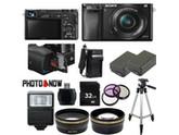 Sony Alpha A6000 Mirrorless Digital Camera with 16-50mm Lens (Black) Professional Bundle