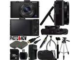 SONY Cyber-shot RX100 II DSC-RX100M2/B Black 20.2MP 3.6X Optical Zoom 28mm Wide Angle Digital Camera With Advanced Bundle