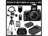 Sony (alpha) SLT-A65V (A65) - Digital camera - SLR - 24.3 Mpix - Sony DT 18-55mm lens - SSE Package: Wireless Remote, Full Size Tripod, Replacement FM500H Batte