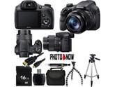 SONY Cyber-shot DSC-HX300/B Black 20.4 MP 50X Optical Zoom Digital Camera HDTV Output With Essential Bundle