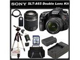Sony a (alpha) SLT-A65VK - Digital camera - SLR - 24.3 Mpix - Sony DT 18-55mm lens - Sony DT 55-200mm lens - SSE Package: Wireless Remote, Full Size Tripod, Rep