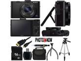 SONY Cyber-shot RX100 II DSC-RX100M2/B Black 20.2MP 3.6X Optical Zoom 28mm Wide Angle Digital Camera With Essential Bundle