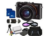 Sony DSC-RX1/B DSCRX1B DSC-RX1 DSC-RX1/B RX1 DSCRX1 Full Frame Compact Digital Camera Kit. Includes 3 Piece Filter Kit (UV-CPL-FLD), 2X 32GB Memory Cards, 2X Ex