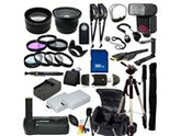 The EVERYTHING YOU NEED Package for Canon EOS Rebel T3i, Canon EOS Rebel T4i, Canon EOS Rebel T5i Digital SLR Cameras. Includes: Wide Angle, Telephoto, Filters,