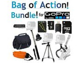 Sunset Electronics - Bag Of Action! All Inclusive Accessory Package for GoPro Hero 3 Includes: Tripod, Monopod, Battery, 32GB Micro SD Card, & More
