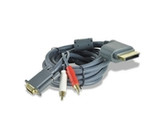 10FT 15-pin VGA (M) HD Video Cable w/RCA Audio for Microsoft Xbox 360