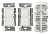 Maestro 1-Amp Multi-Location 7 Speed Combination Fan and Light Control Kit, White
