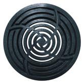 8- Inch Round Black Grate