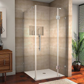 Aston Avalux 32 Inch X 36 Inch X 72 Inch Completely Frameless Shower Enclosure In Stainless Steel