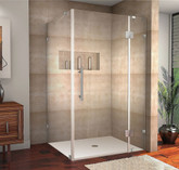 Aston Avalux 42 Inch X 38 Inch X 72 Inch Completely Frameless Shower Enclosure In Stainless Steel