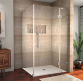 Aston Avalux 40 Inch X 36 Inch X 72 Inch Completely Frameless Shower Enclosure In Stainless Steel