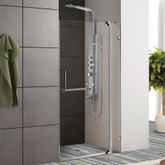 Clear and Brushed Nickel Frameless Shower Door 36 Inch 3/8 Inch glass