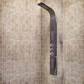 Gunmetal Shower Panel System with Rain Head