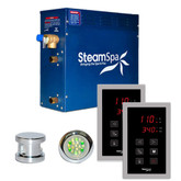 SteamSpa Royal 4.5kw Touch Pad Steam Generator Package in Chrome