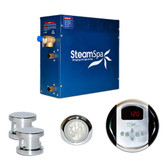 SteamSpa Indulgence 10.5kw Steam Generator Package in Chrome