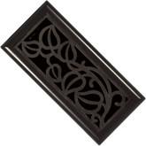 Oil Rubbed Bronze Mocha Vine Floor Register - 4 Inch X 10 Inch