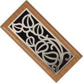 Satin Nickel Light Oak Vine Floor Register - 3 Inch X 10 Inch