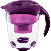 Elemaris XL Water Filter Pitcher, 9 Glasses, Purple