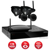Defender 4-Channel 1TB DVR With 4 High Resolution Wireless Cameras