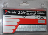 22 Gauge 3/8 Inch Upholstery Staples, 4000 Pack