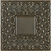 4 Inchx4 Inch Cast Bronze Metal Lugarno Deco