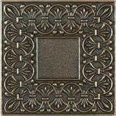 4 Inchx4 Inch Cast Bronze Metal Lugarno Deco