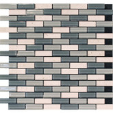 Self Adhesive 4mm Travertine Stone & Grey Glass Blend Wall Tile