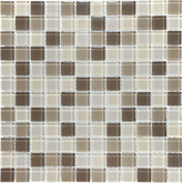 1X1 Calm Beige Glass Mosaic