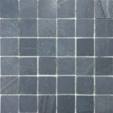 2 Inchx2 Inch Bengal Black Honed Slate Mosaics