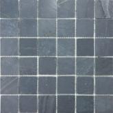 2 Inchx2 Inch Bengal Black Honed Slate Mosaics