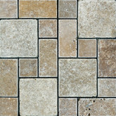 Noce Tuscan Pattern Tumbled Mosaics