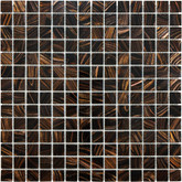 3/4 X 3/4 Java Bronze Glass Mosaic