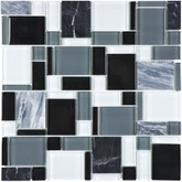 Midnight Glass Stone Pattern Mosaics