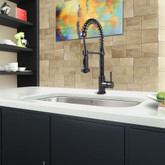 Matte Black Pull-Down Spray Kitchen Faucet