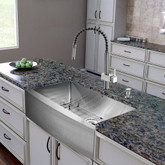 Stainless Steel All in One Farmhouse Kitchen Sink and Faucet Set 30 Inch