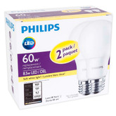 LED 8.5W = 60W A-Line (A19) Soft White Non-Dimmable (2700K) - Case of 8 Bulbs