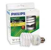 CFL 23W = 100W Mini Twister Soft White (2700K) - Case of 12 Bulbs