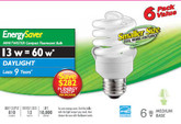 CFL 13W = 60W Mini Twister Daylight (6500K) - Case of 24 Bulbs